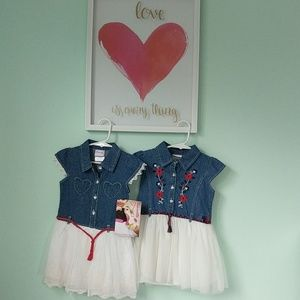 NWT Toddler (3T) cowgirl denim dresses